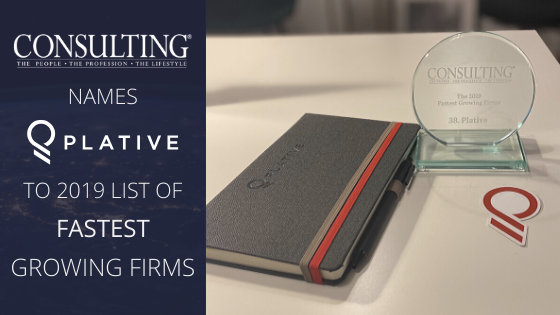 Consulting Magazine Names Plative on The List of The Profession's Fastest Growing Firms For 2019