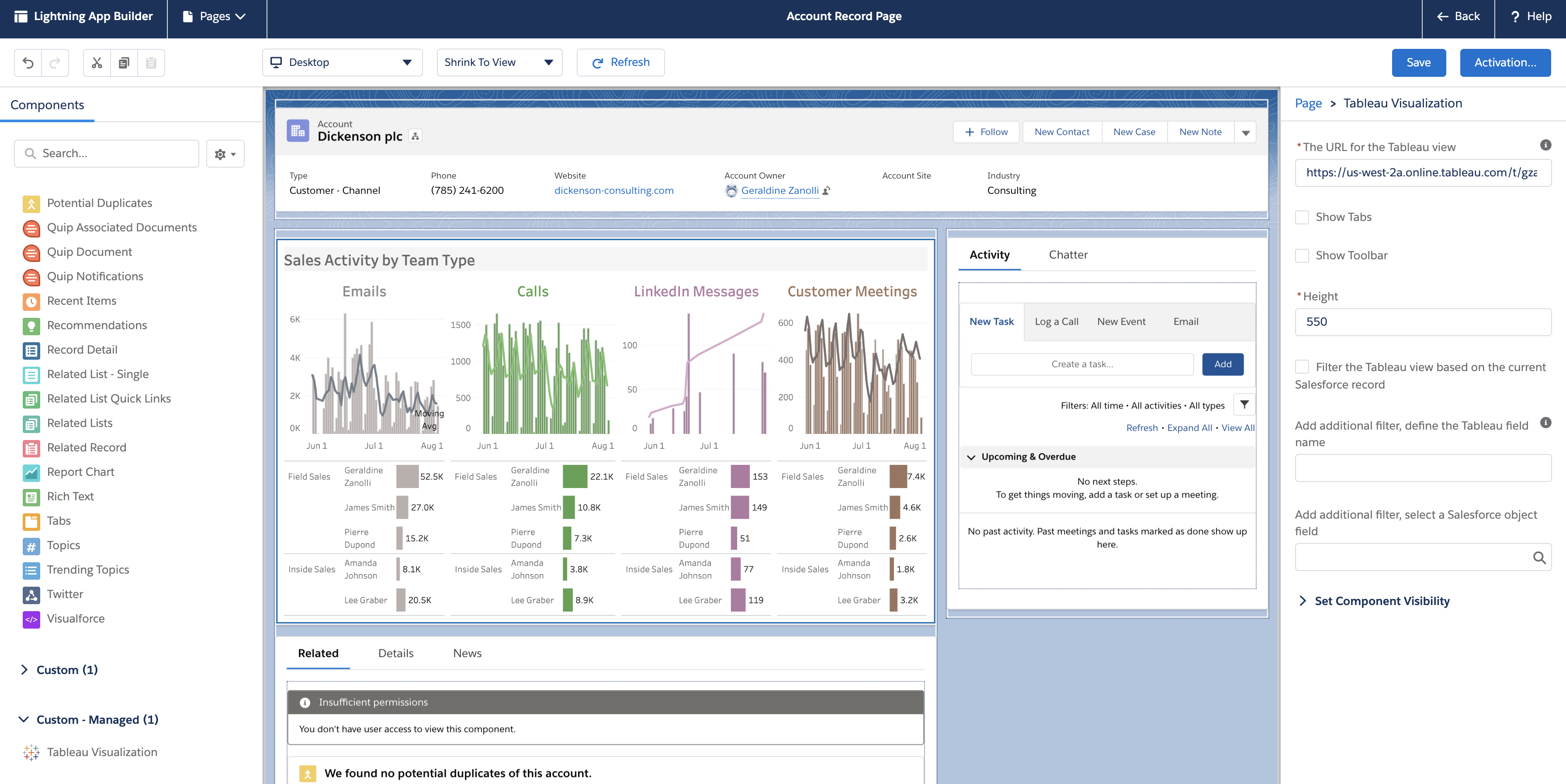 Breaking Embed Tableau Dashboards In Salesforce With Lightning Web Component Plative
